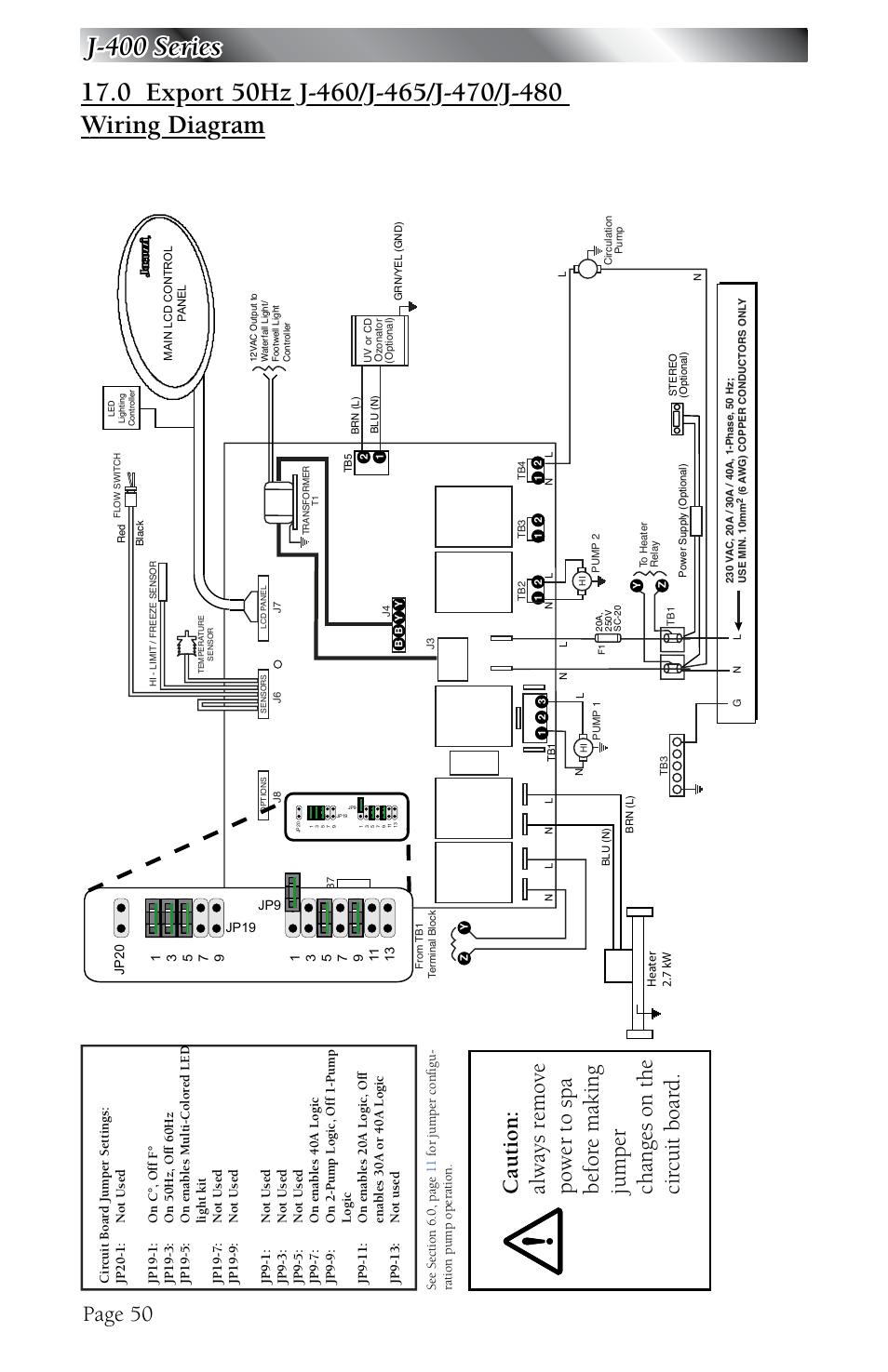 Export 50hz J 460 J 465 J 470 J 480 Wiring Diagram Page