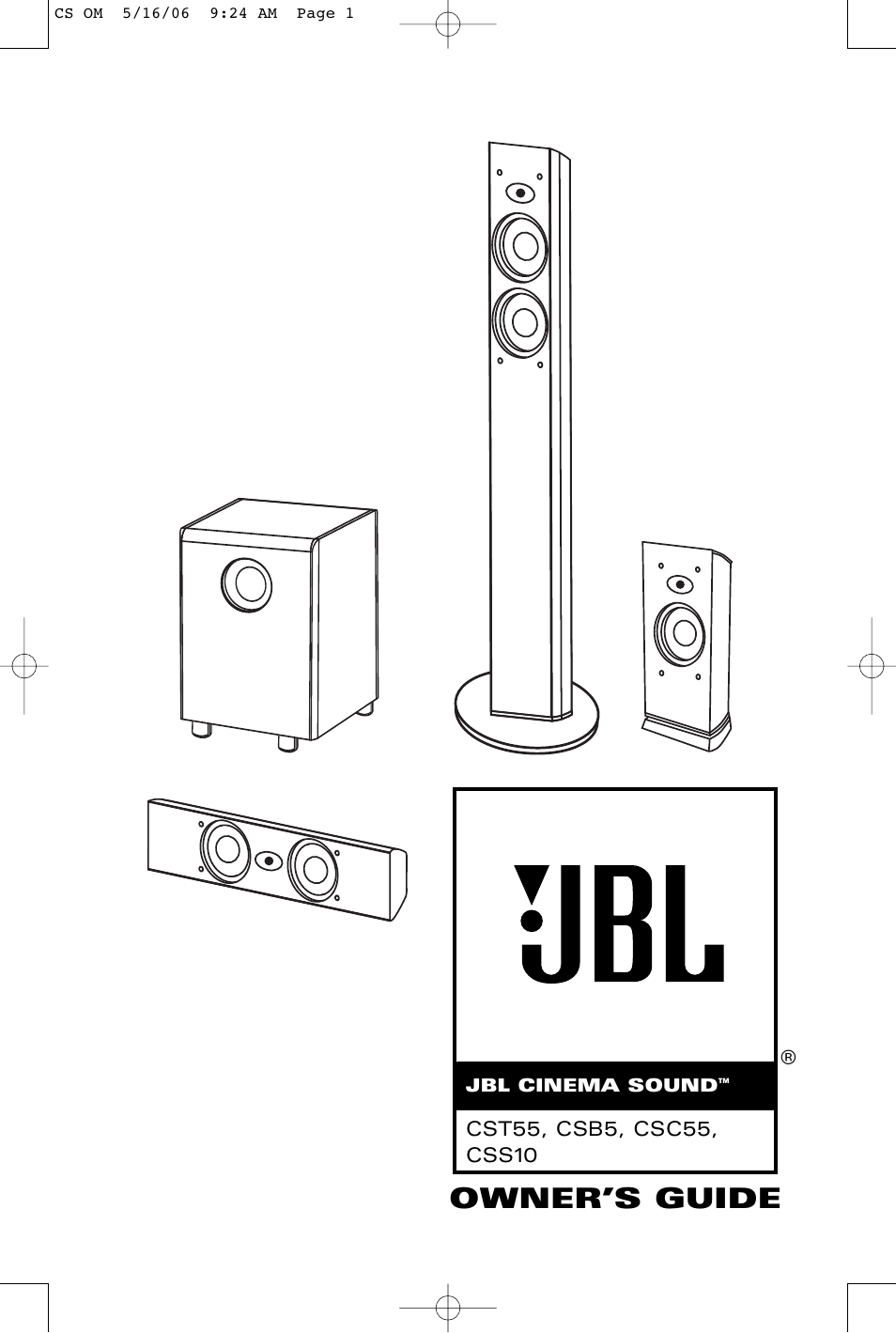 jbl css10 user manual 12 pages rh manualsdir com