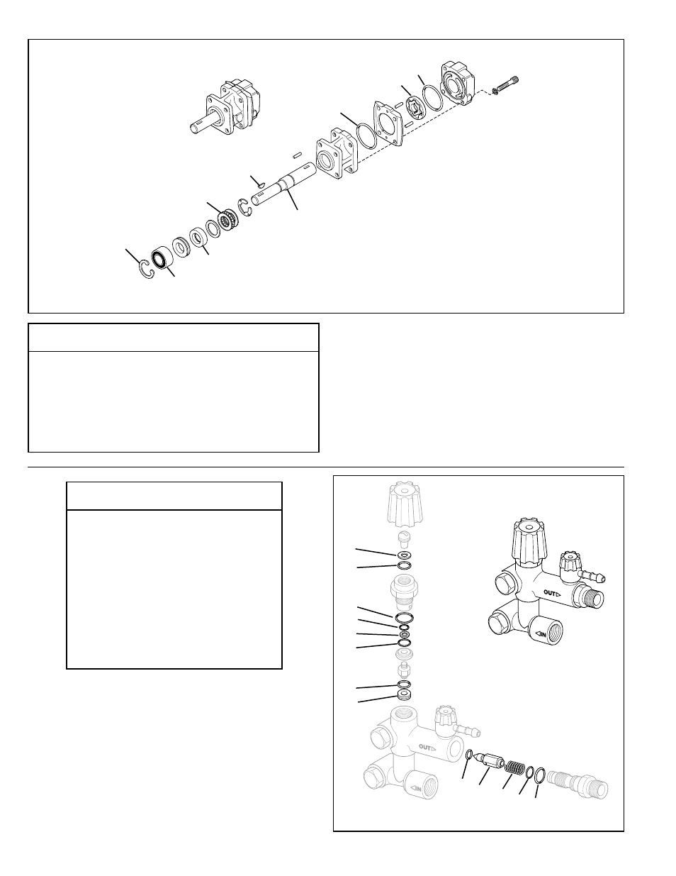 Figure 19 service parts for hydraulic motor, Figure 20 service parts for  unloader | John Deere SPRAYMASTER 4700 User Manual | Page 8 / 12