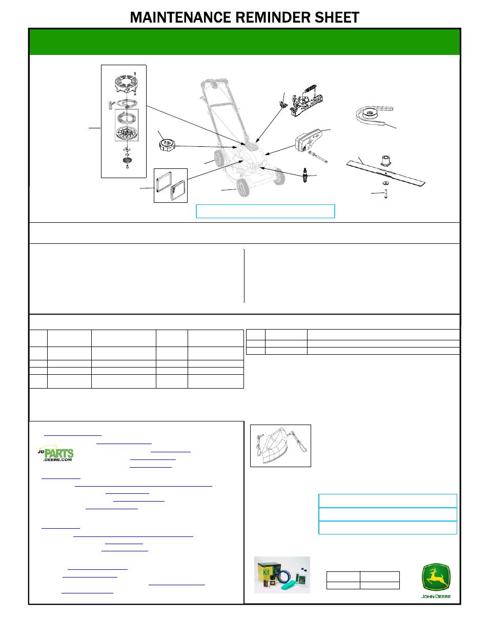 John Deere JS26 User Manual   1 page