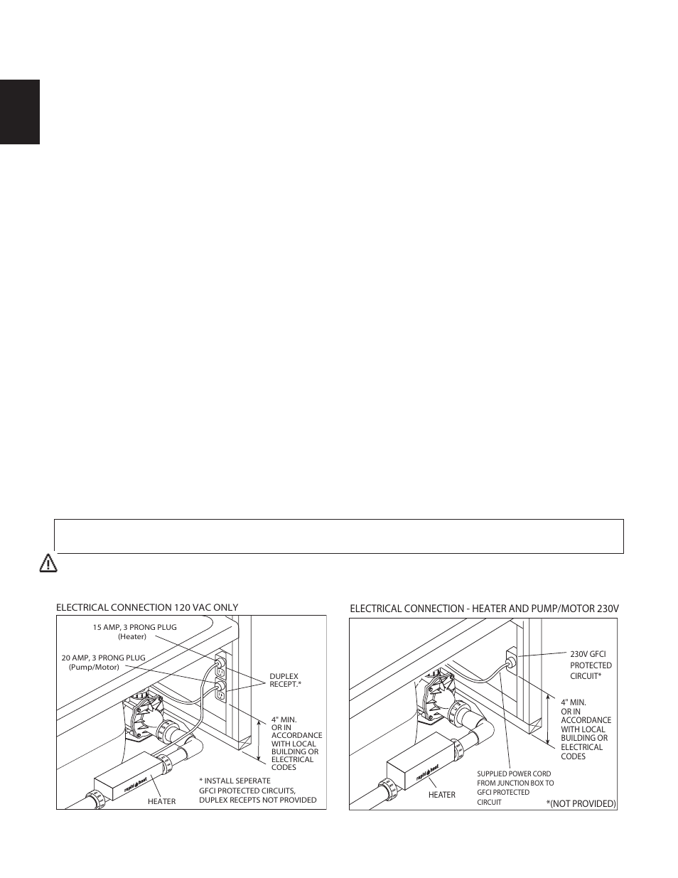 Installation Instructions Electrical Connections Jacuzzi Fuzion 20 Amp Breaker What Should Be Used A Gfci Or Is 15 Bath Series 7260 User Manual Page 16 26
