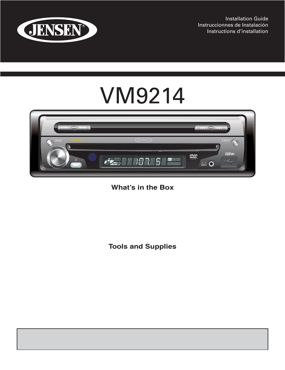 Jensen Vm9214 User Manual