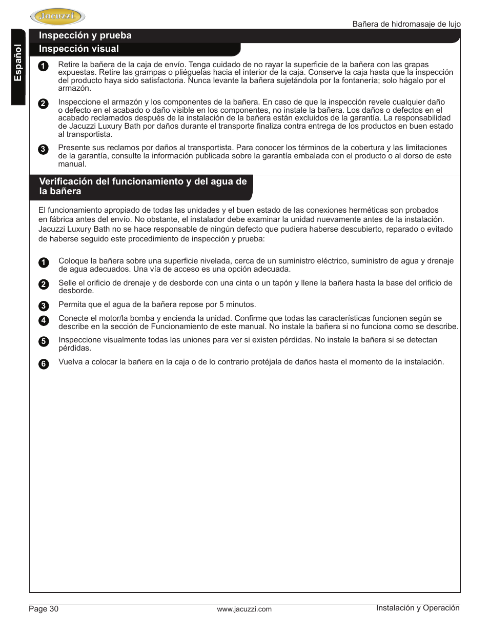 Funcionamiento Del Jacuzzi.Jacuzzi Hd84000 User Manual Page 30 72