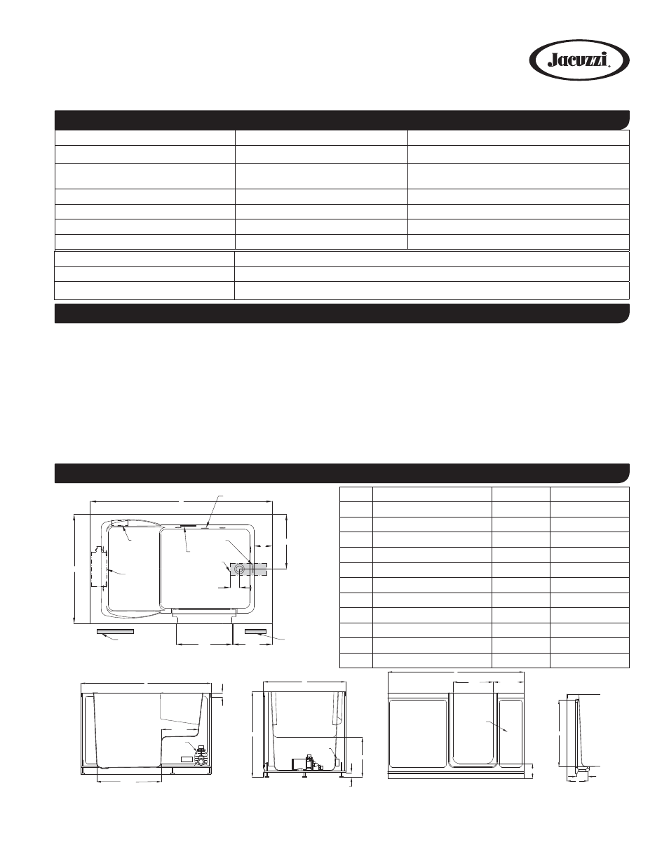 Jacuzzi FINESTRA F4N6036WRL User Manual | 1 page