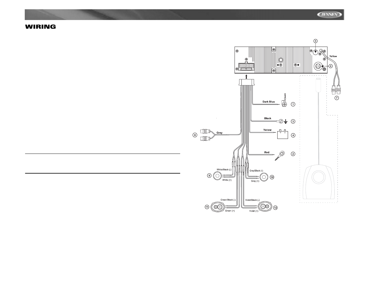 mp6211, wiring | jensen mp6211 user manual | page 7 / 52 jensen furnace wiring diagram jensen radio wiring diagram #11