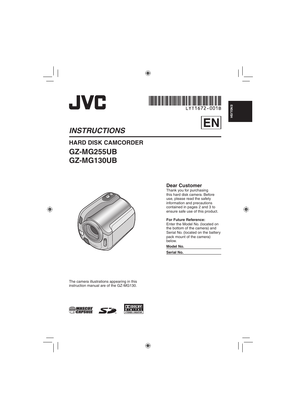 jvc everio gz mg255u user manual 60 pages also for everio gz mg130u rh manualsdir com JVC Everio Manual PDF jvc everio service manual