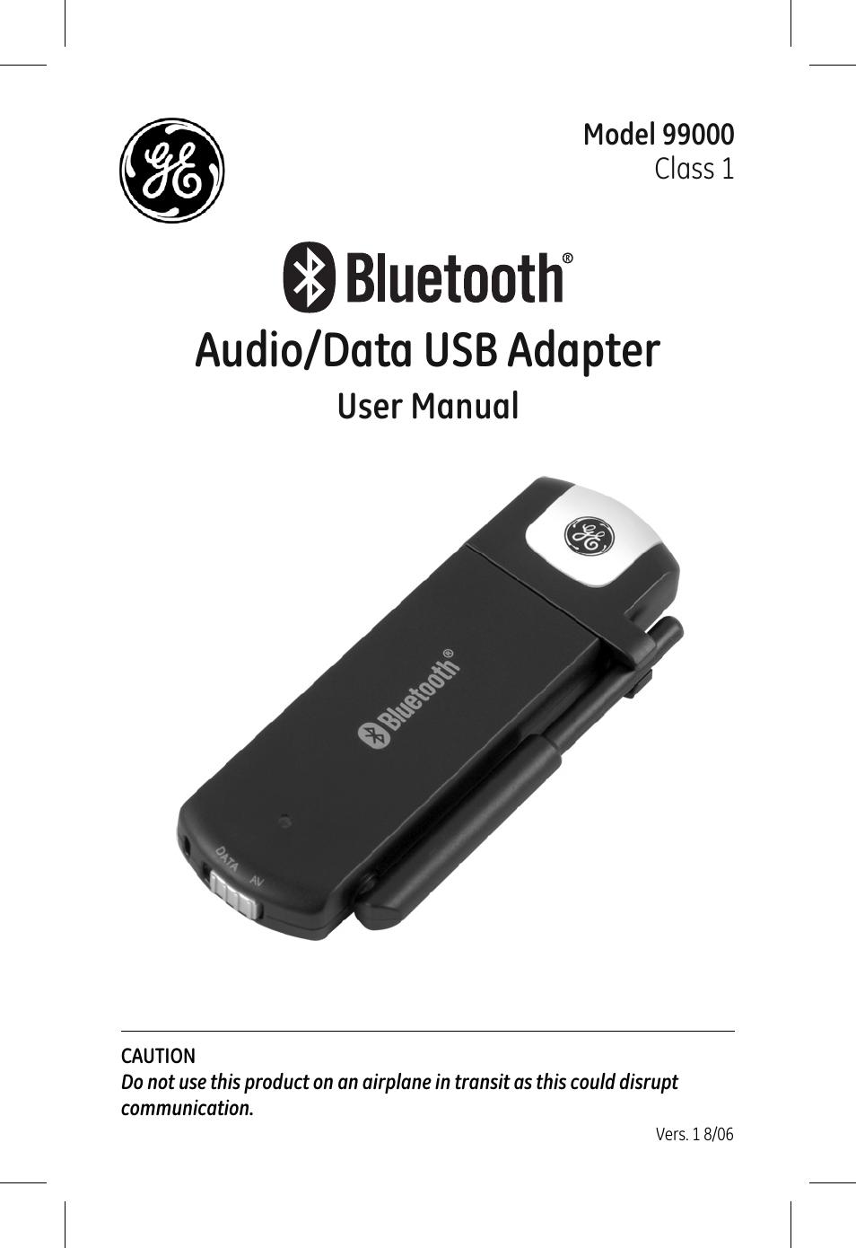 ge 99000 ge bluetooth usb adapter audio   data user manual Old GE Radios Switching Adapter GE