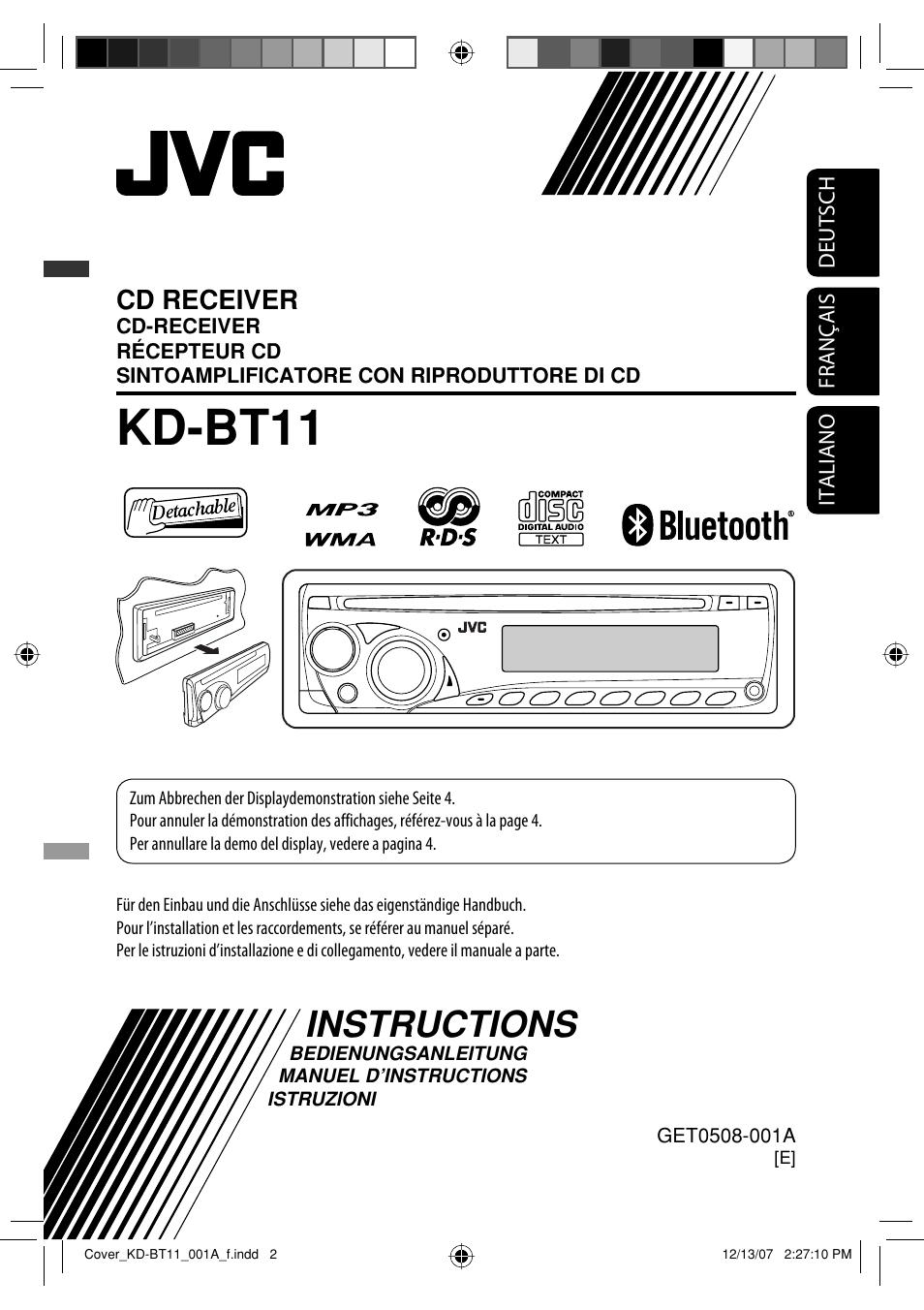 jvc kd bt11 user manual 107 pages original mode rh manualsdir com JVC GR Camcorder User Manual JVC Car Radio Manual
