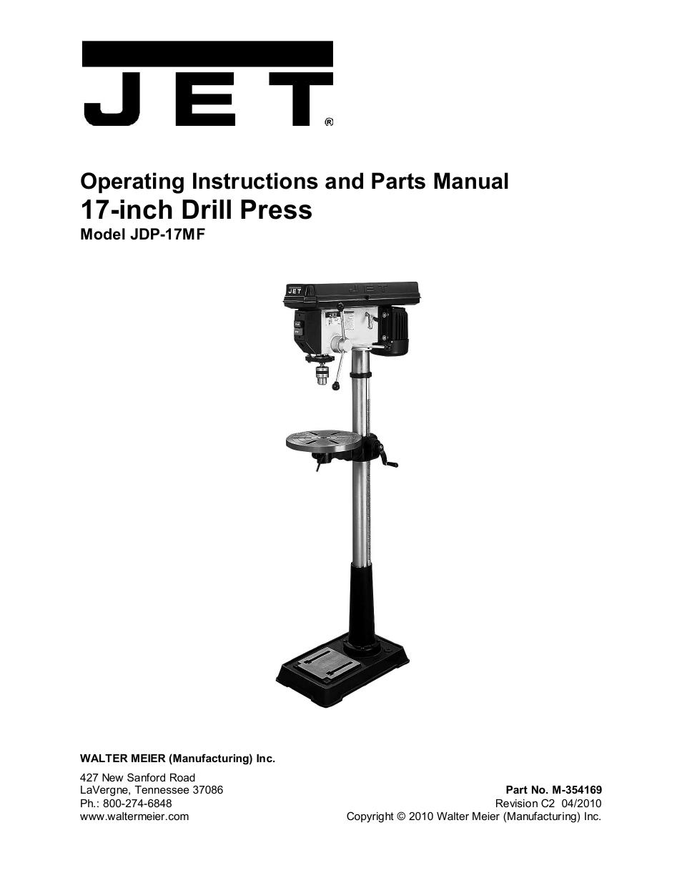 jet tools jdp 17mf user manual 24 pages rh manualsdir com jet power tools manuals jet tools owners manuals