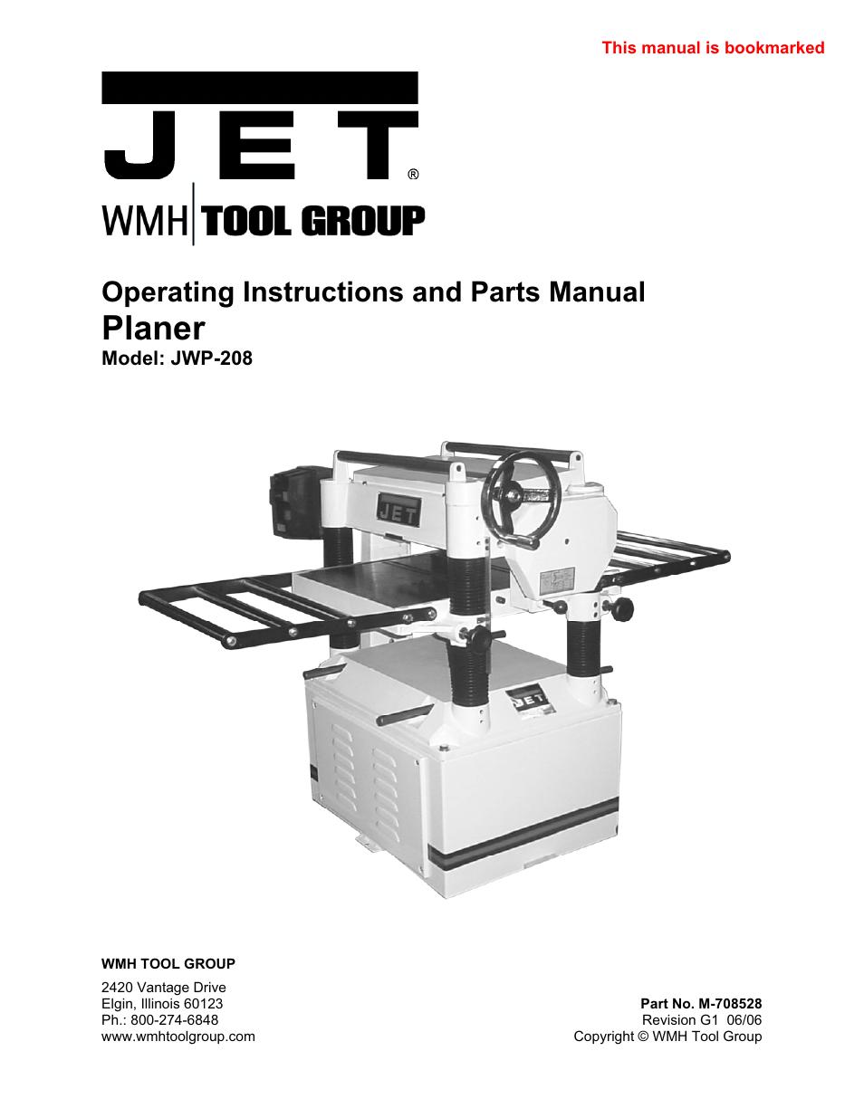 jet tools jwp 208 user manual 36 pages rh manualsdir com Hand Tools Hand Tools