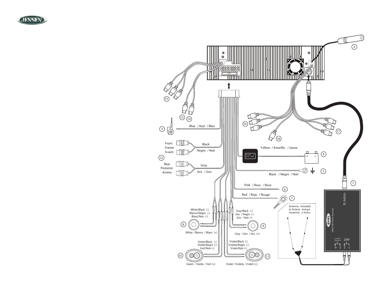 Jensen vm wiring harness diagram