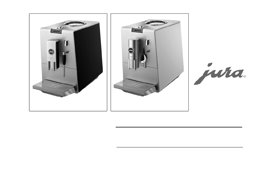 Jura Coffee Maker Manual : Jura Capresso 68191 User Manual 32 pages Also for: ENA 3, ENA 4, ENA 5