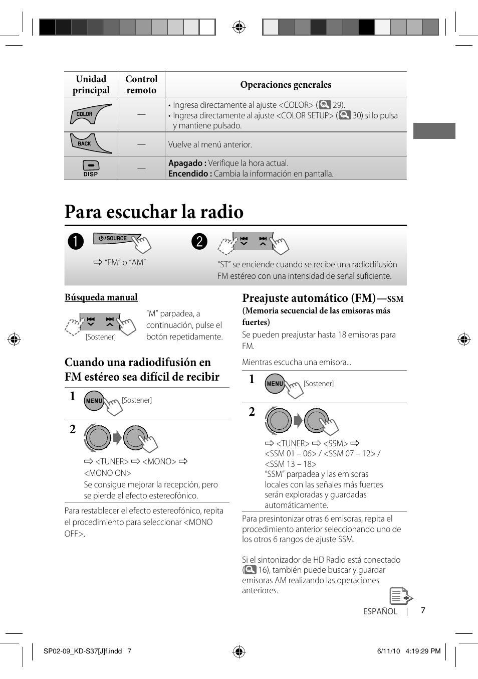 para escuchar la radio preajuste autom tico fm jvc kd s37 user rh manualsdir com jvc kd s37 user manual JVC KD- AVX77