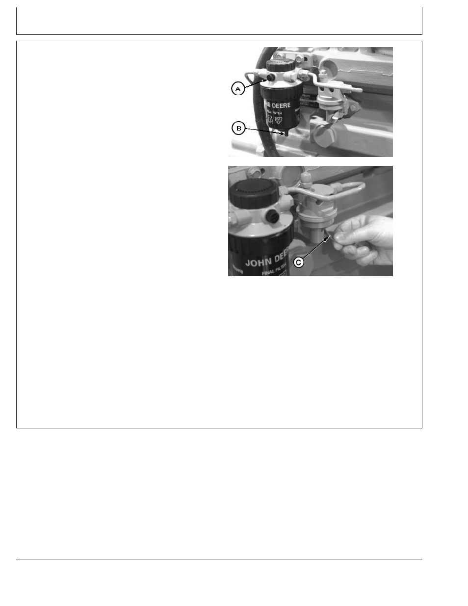 Checking Fuel Filter John Deere Cd4039df008 User Manual Page 67 86 Text Flow