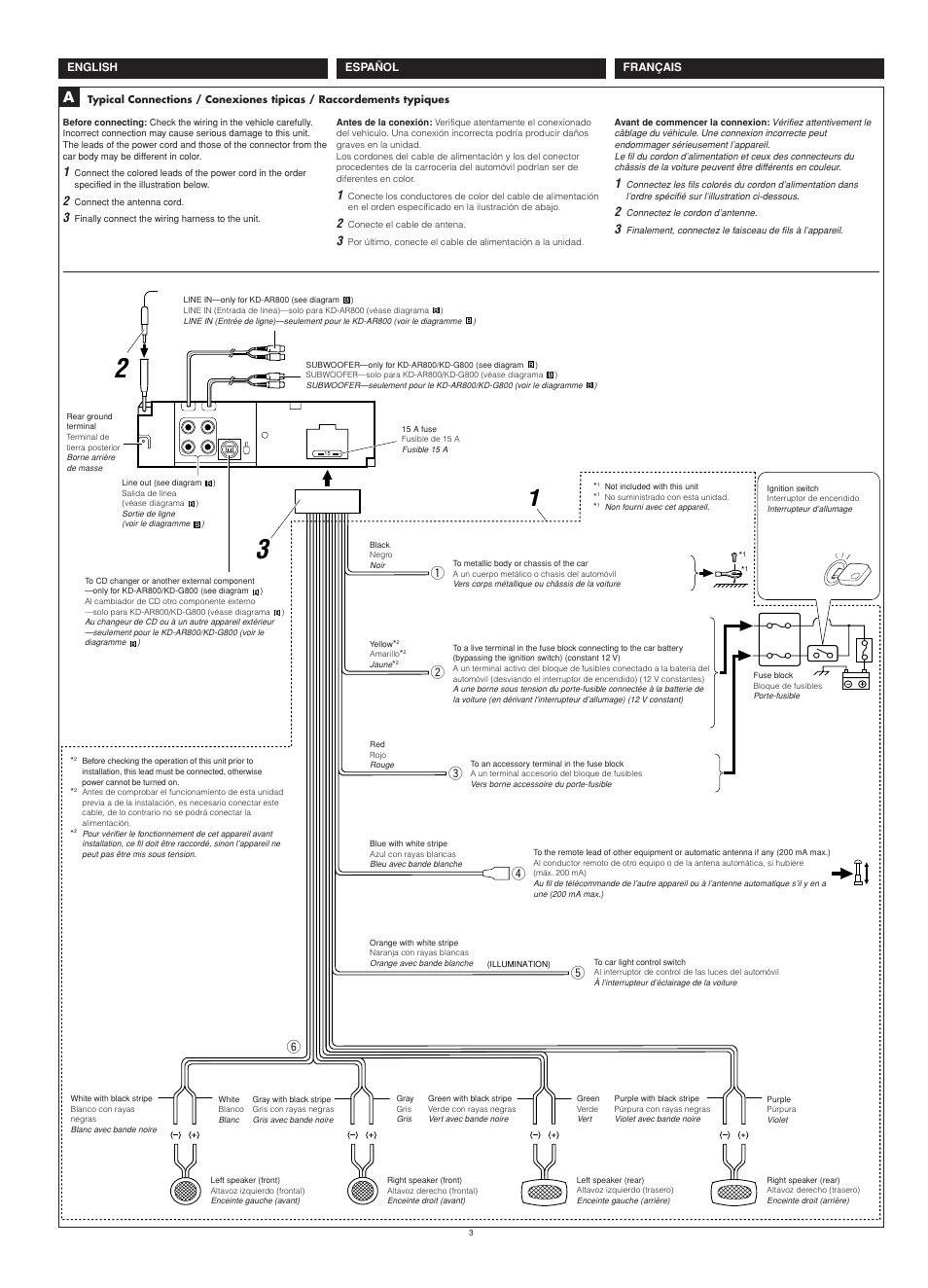 Wiring | JVC KD-G700 User Manual | Page 51 / 66 on
