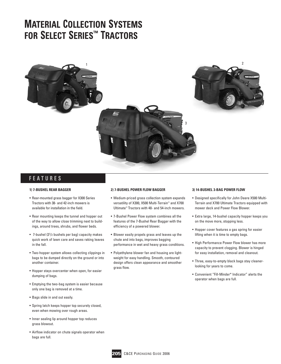 John Deere Ultimate X700 User Manual | 2 pages | Also for: Select