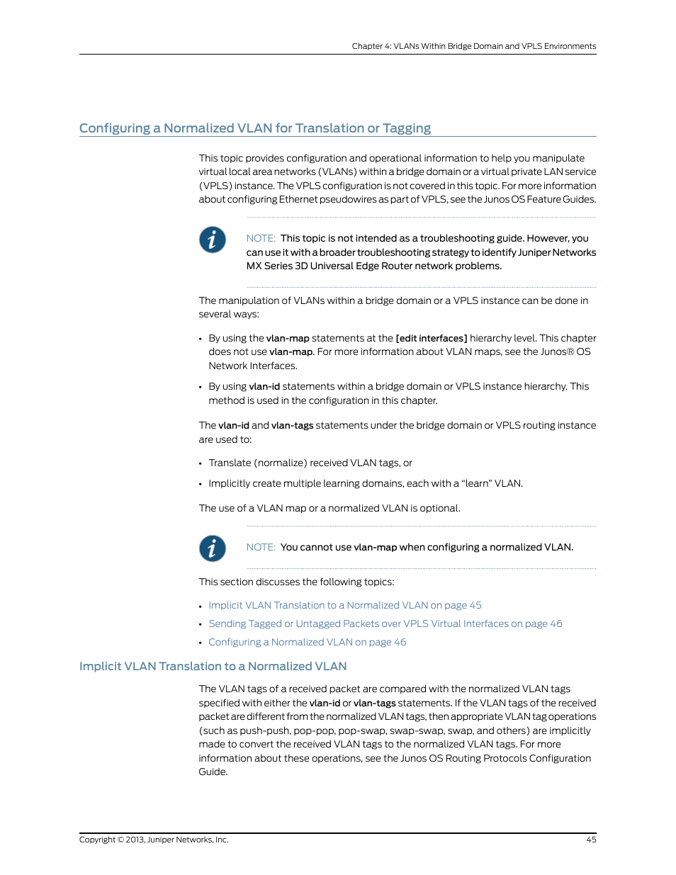 Implicit vlan translation to a normalized vlan | Juniper Networks