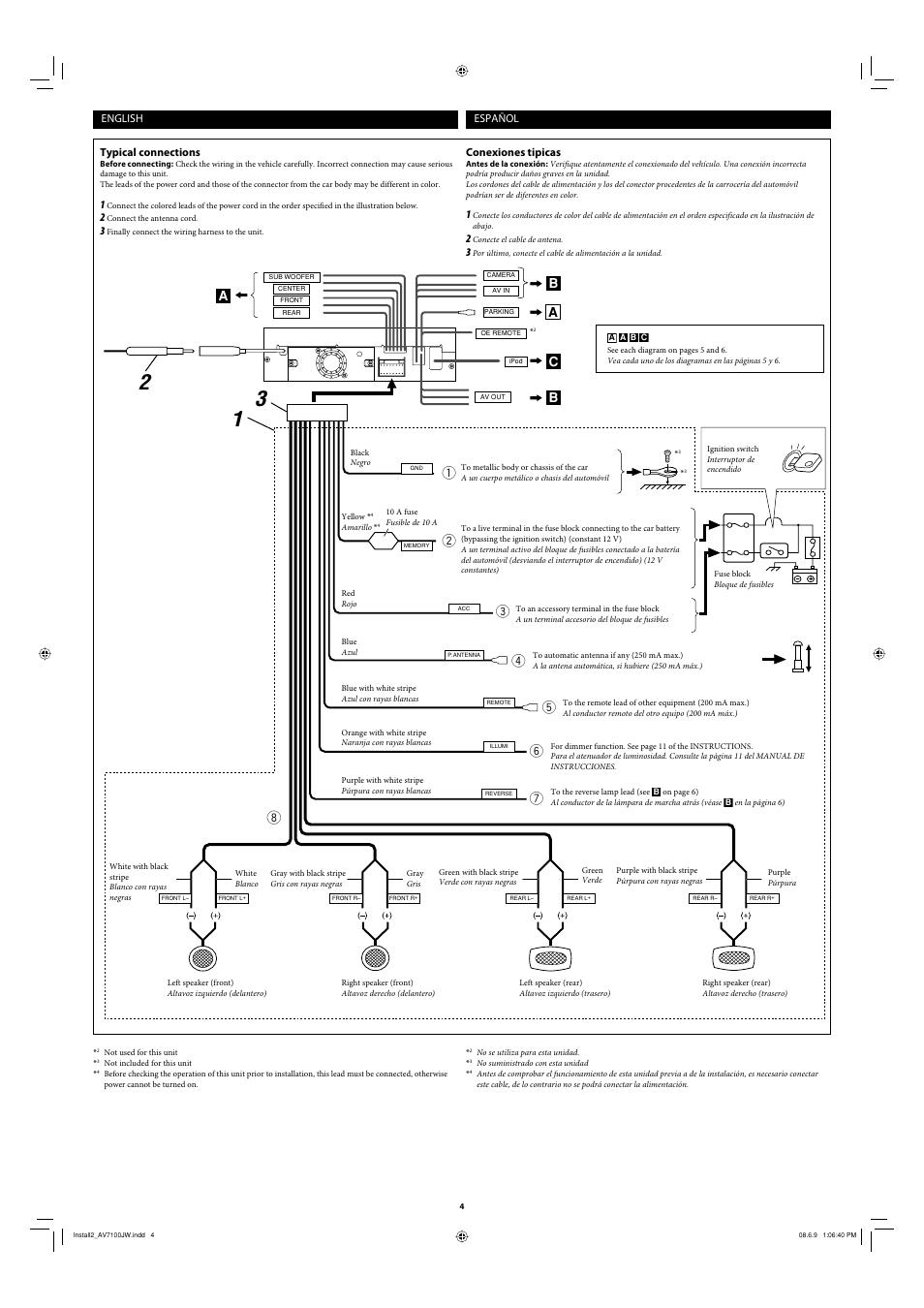 Ab c a | JVC KD-AV7100 User Manual | Page 4 / 6