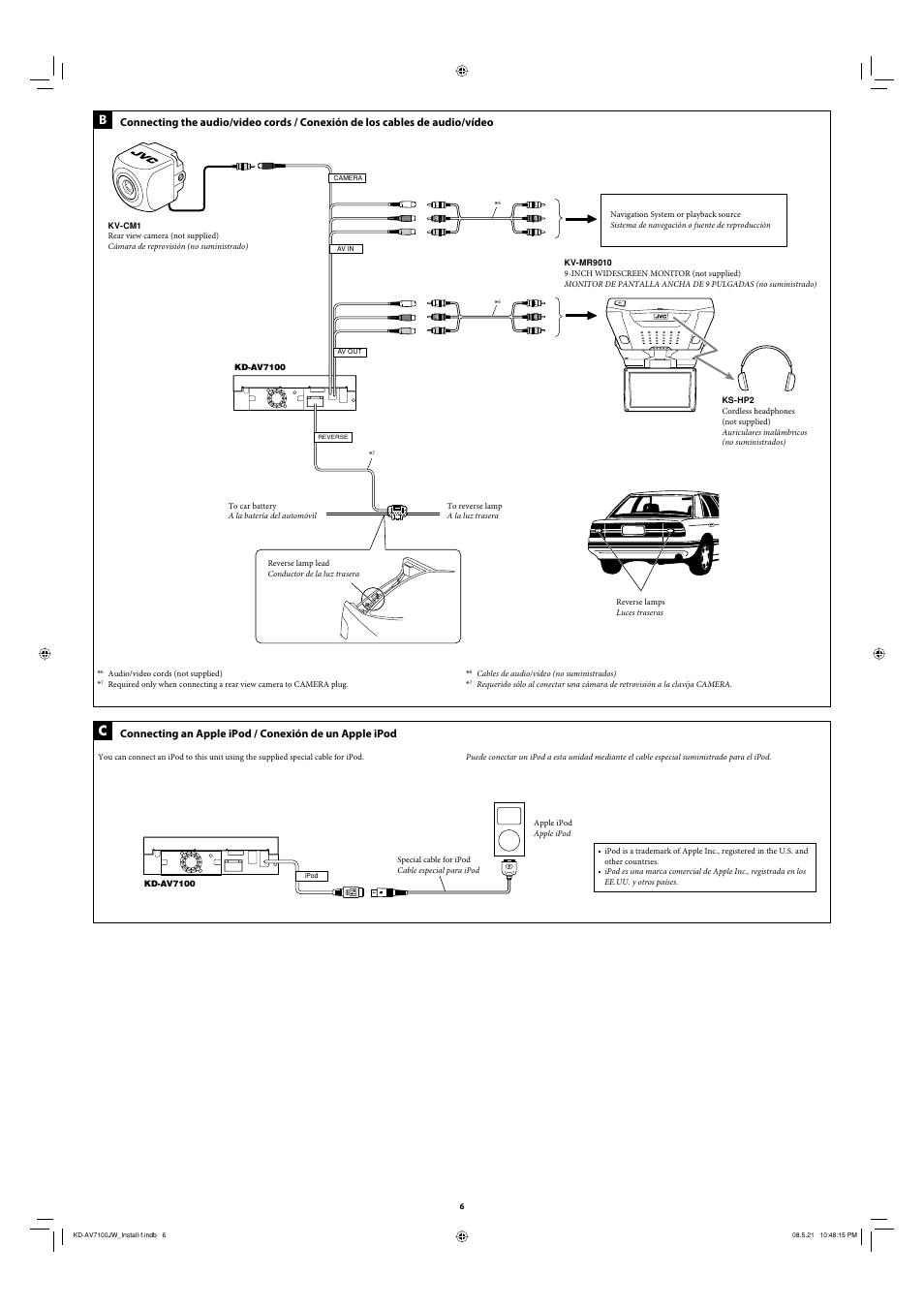 JVC KD-AV7100 User Manual | Page 6 / 6