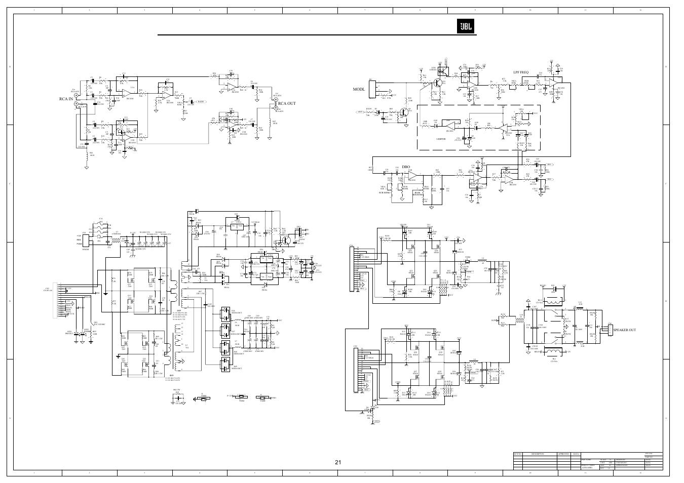 Jbl Manual Sb400 Powered Soundbar Schematic Circuit Diagram Electro Array Schematics Modl Rca In Gto14001 User Page 22 24 Rh Manualsdir Com