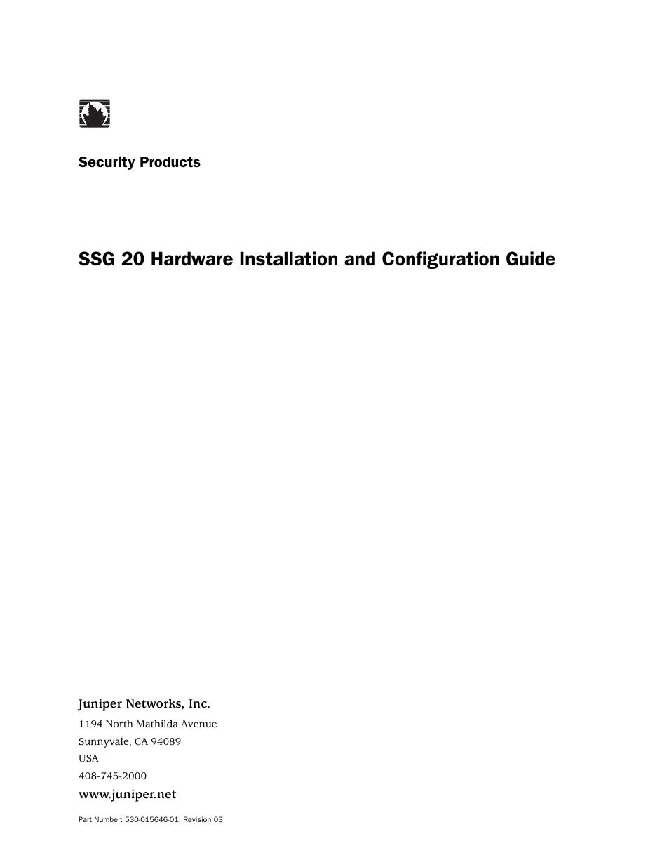 Juniper Networks SSG 20 User Manual | 86 pages
