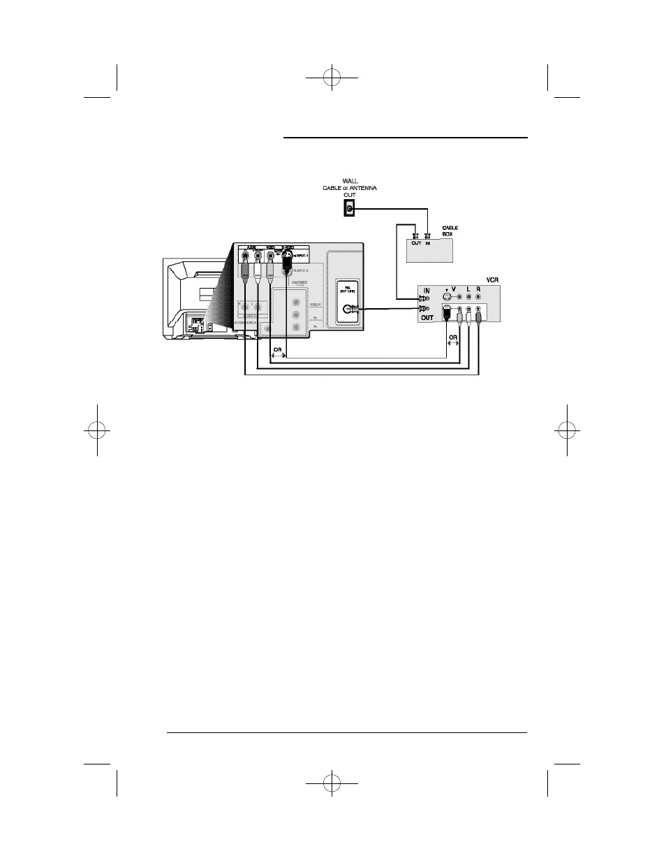 Connections, Cable and vcr connections - continued | JVC AV 36D302 ...