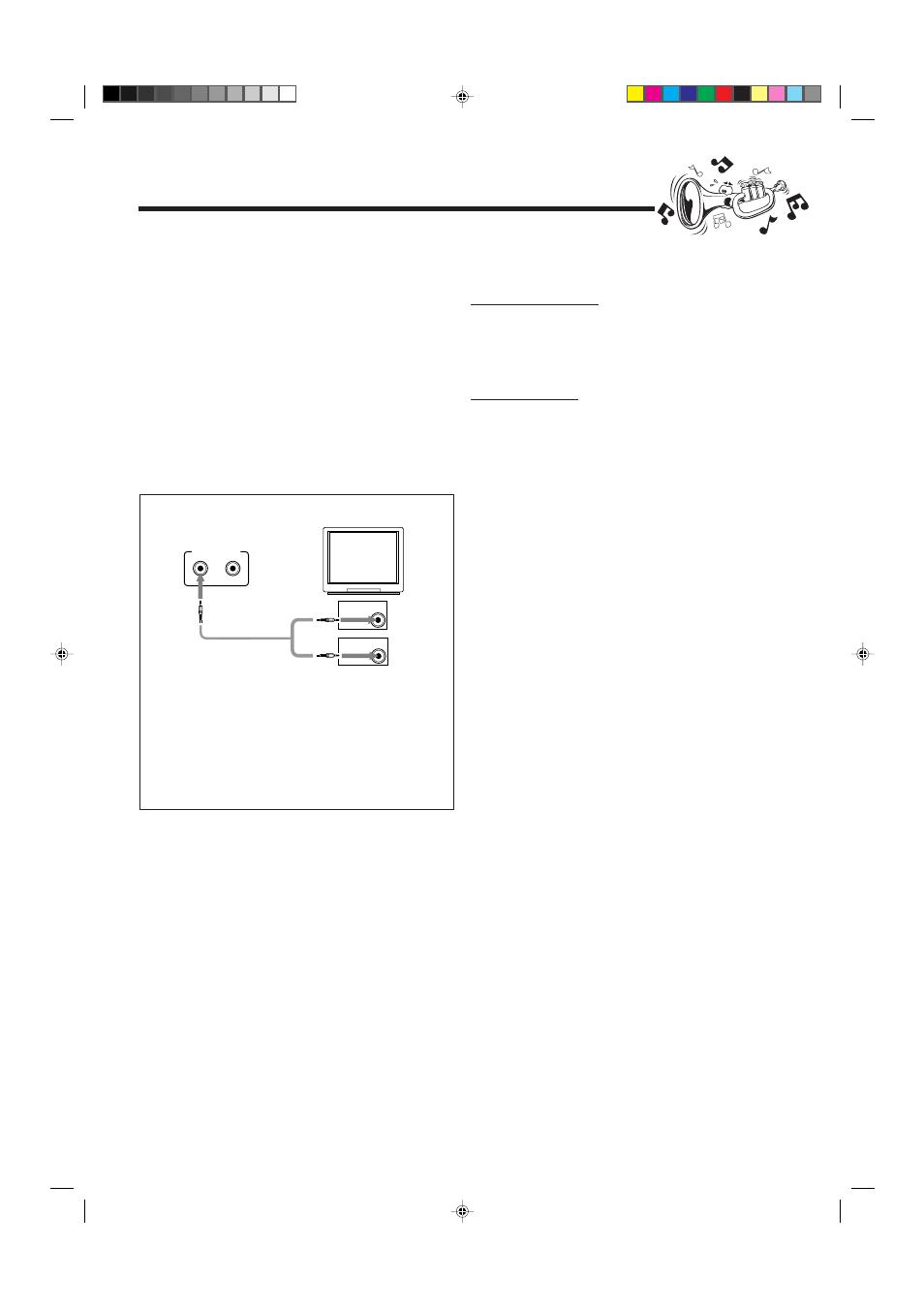 Connections, connecting to jvc av compu link | jvc av-36260 user.