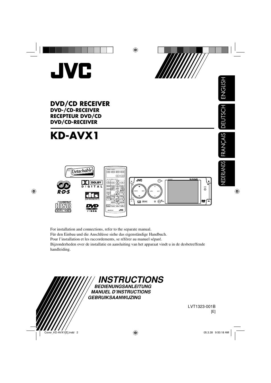 JVC KD-AVX1 User Manual | 78 pagesManuals Directory