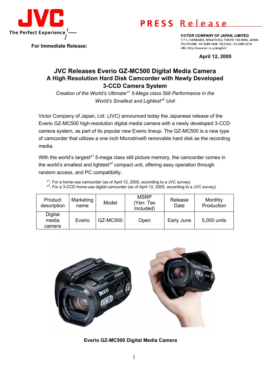 jvc gz mc500 user manual 7 pages rh manualsdir com Sony HVR Canon ZR