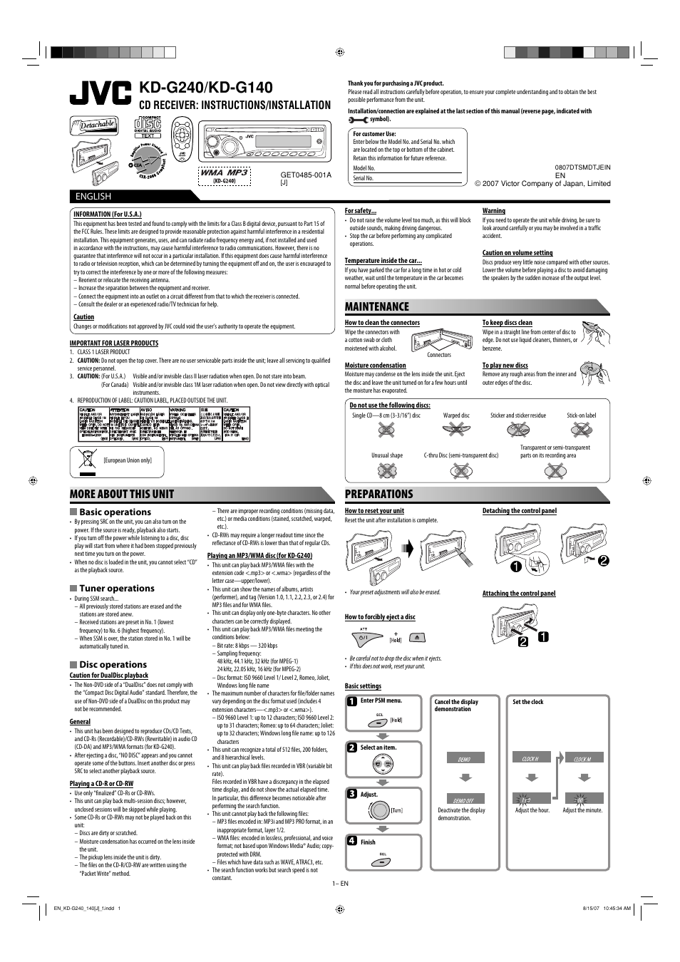 jvc kd g140 user manual 4 pages also for kd g240 rh manualsdir com