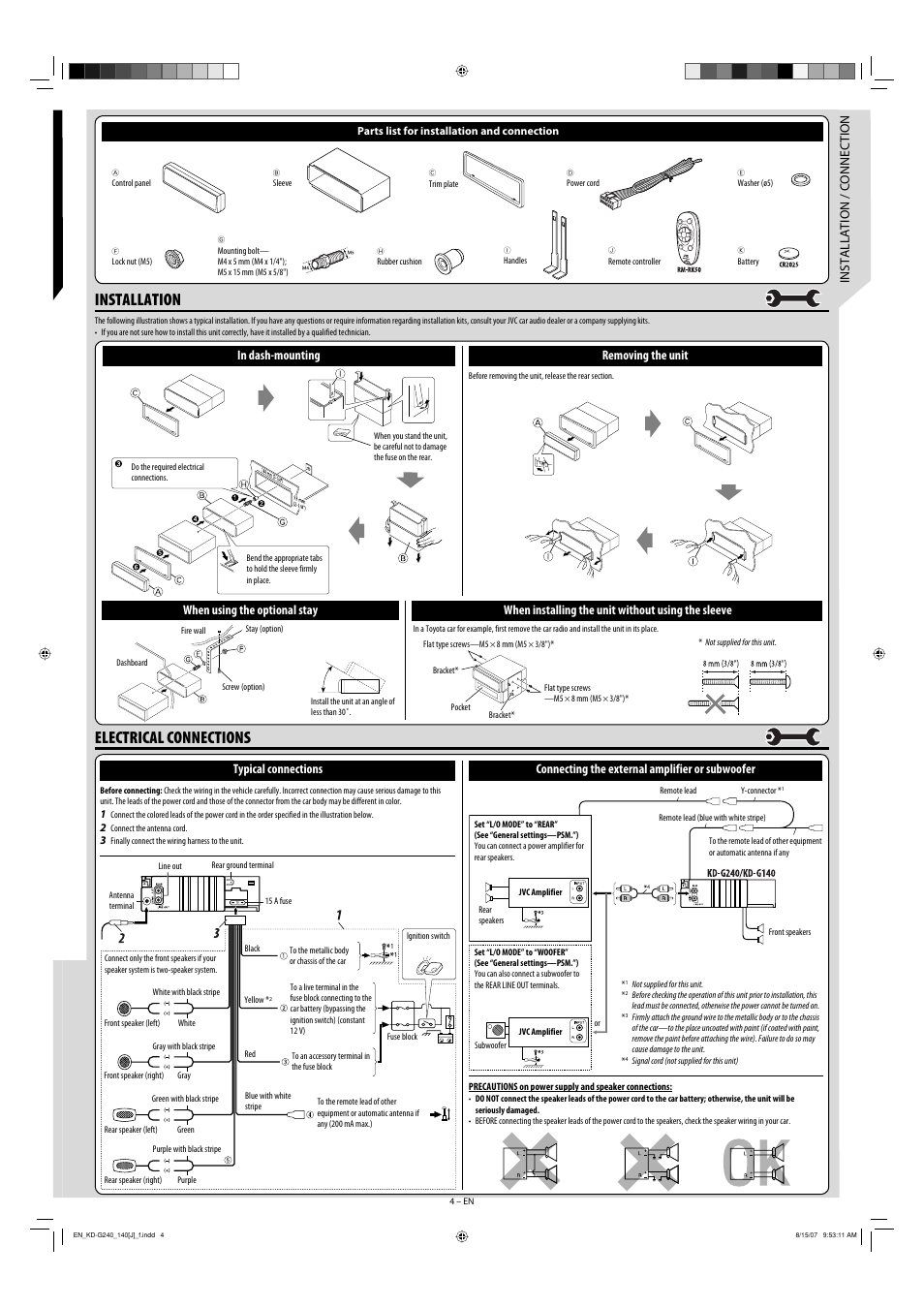 Jvc Car Stereo Kd G140 Wiring Diagram