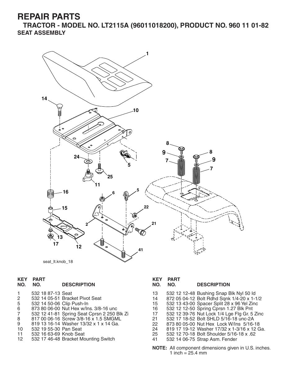 Repair Parts