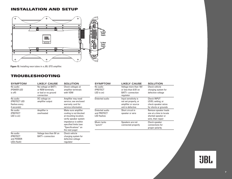 jbl car audio gto 752 wiring diagram installation circuit wiringinstallation and setup, troubleshooting jbl gto601 1 ii user jbl car audio gto 752 wiring diagram installation circuit