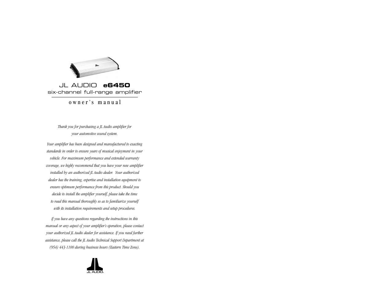 jl audio e6450 user manual 11 pages rh manualsdir com