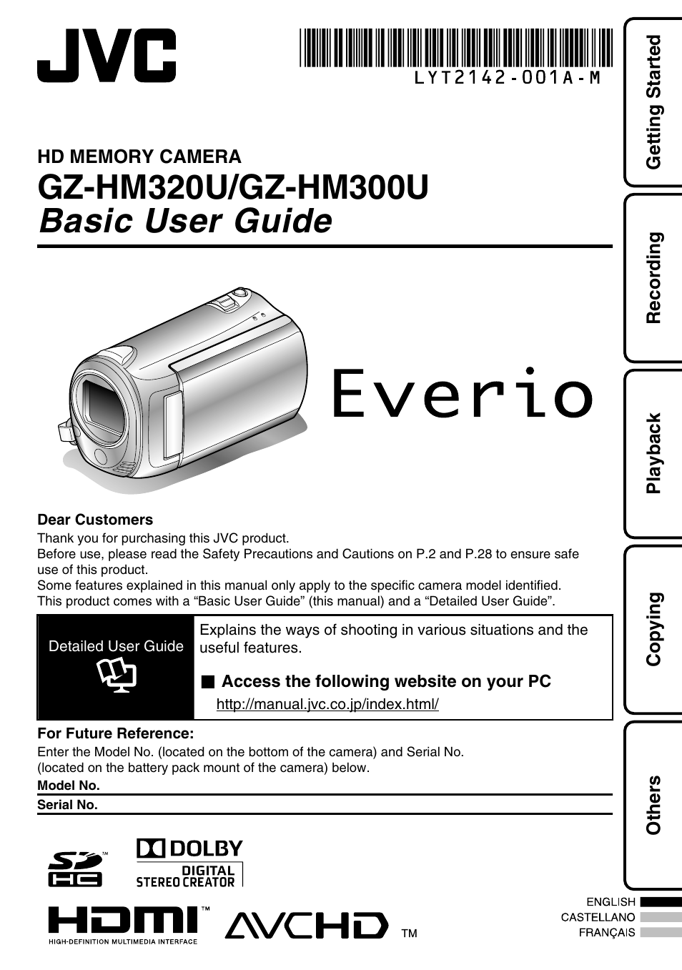 jvc everio gz hm300u user manual 96 pages rh manualsdir com JVC Everio Gz HD300 JVC Everio Support