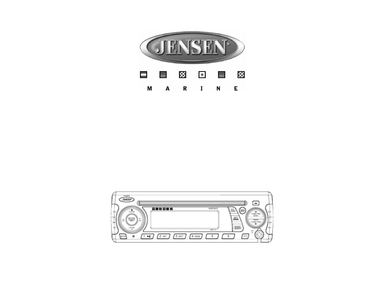 jensen msr3007 user manual 38 pages rh manualsdir com Jensen MSR3007 Wiring Jensen MSR3007 Manual