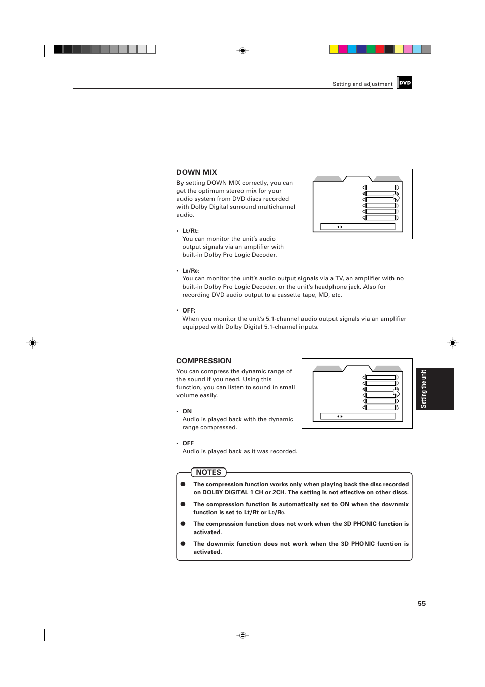 Down mix, Compression | JVC XV-D705GD User Manual | Page 57 / 113