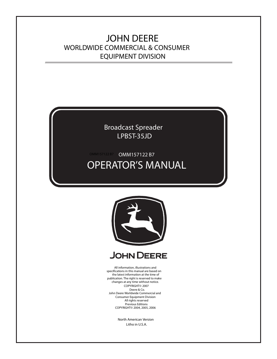 john deere lpbst 35jd user manual 12 pages rh manualsdir com john deere l110 owners manual pdf john deere l110 operator manual download