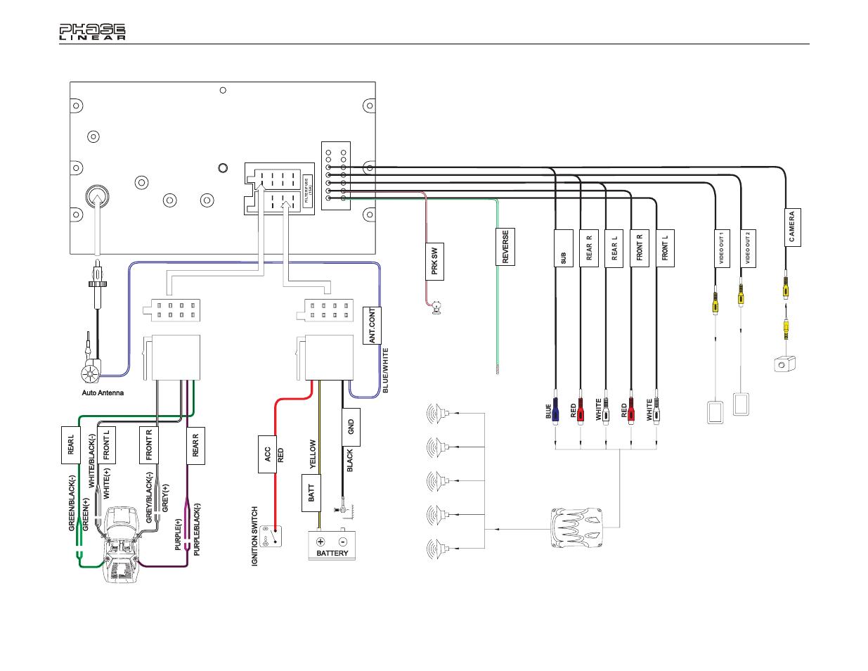 Uv8020, Wiring diagram | Jensen Phase Linear UV8020 User Manual | Page 8 /  30