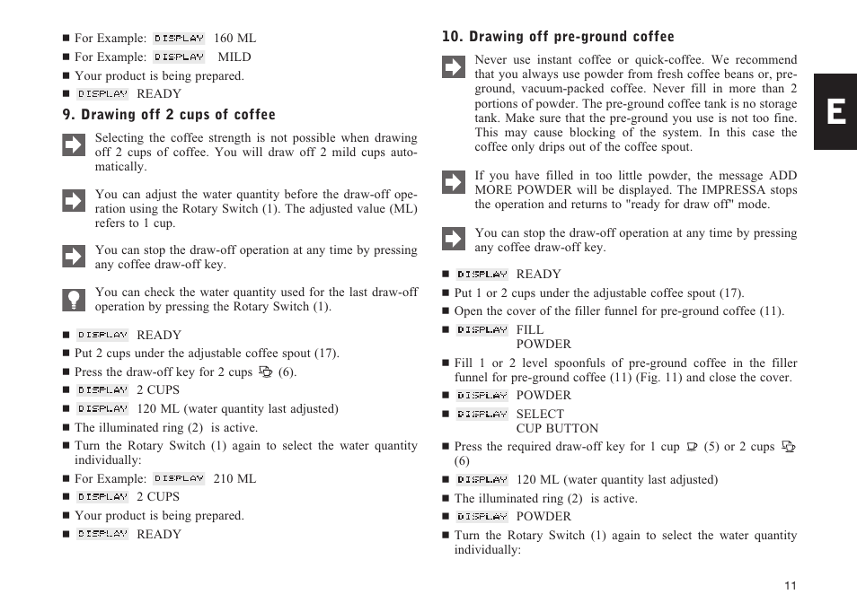 Jura Capresso IMPRESSA F5 User Manual | Page 11 / 26 | Also