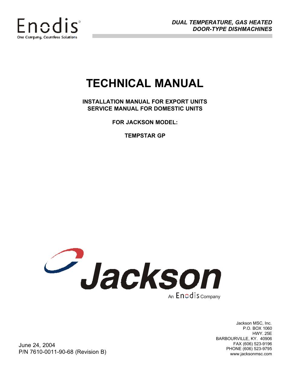jackson tempstar dishwasher wiring diagram