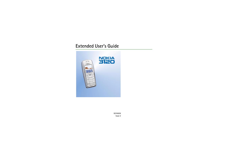 nokia 3120 user manual
