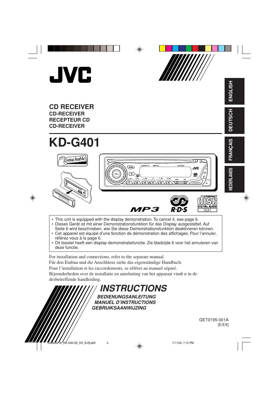 jvc kd g401 user manual 44 pages original mode rh manualsdir com jvc d series tv owner's manual JVC D Series Functions