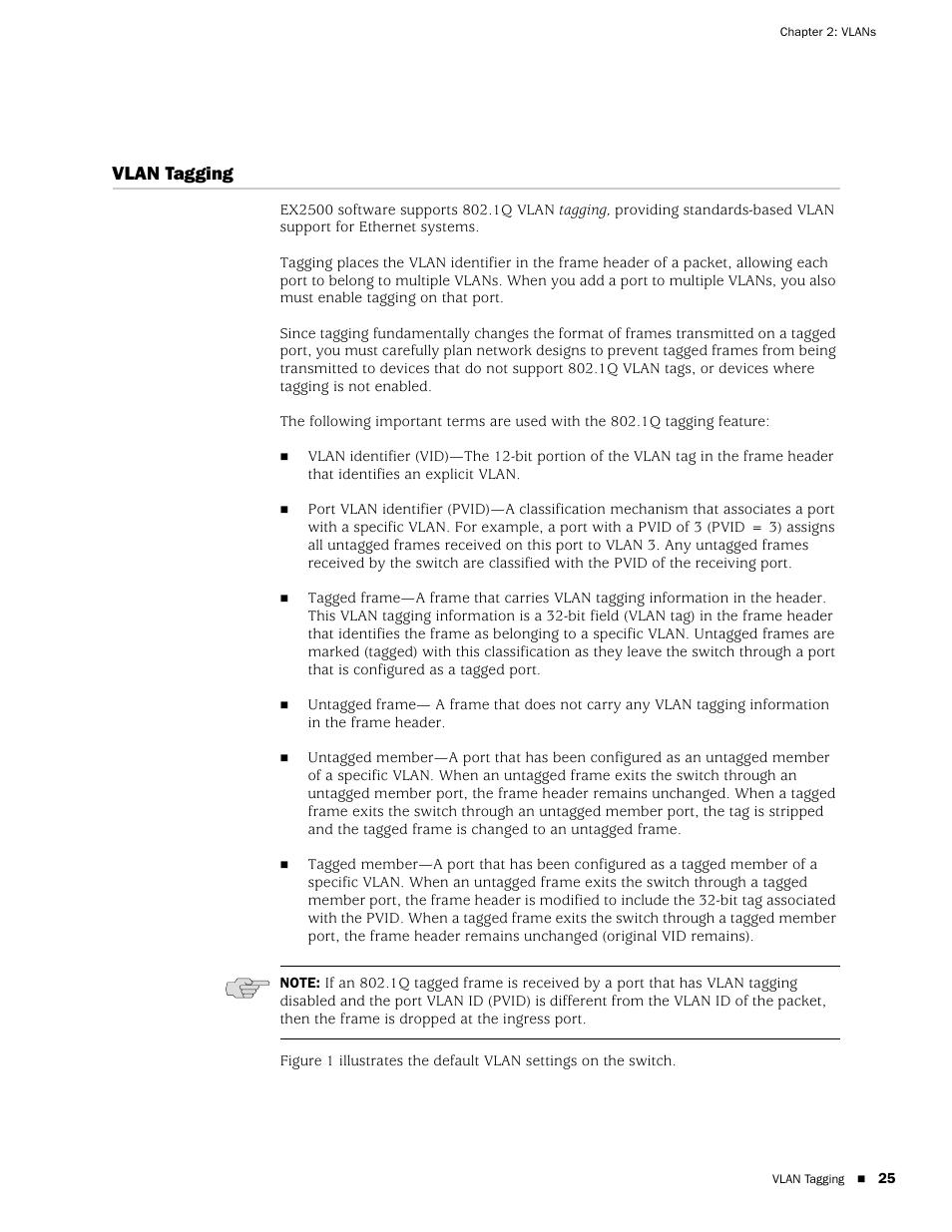 Vlan tagging | Juniper Networks EX2500 User Manual | Page 39 / 106