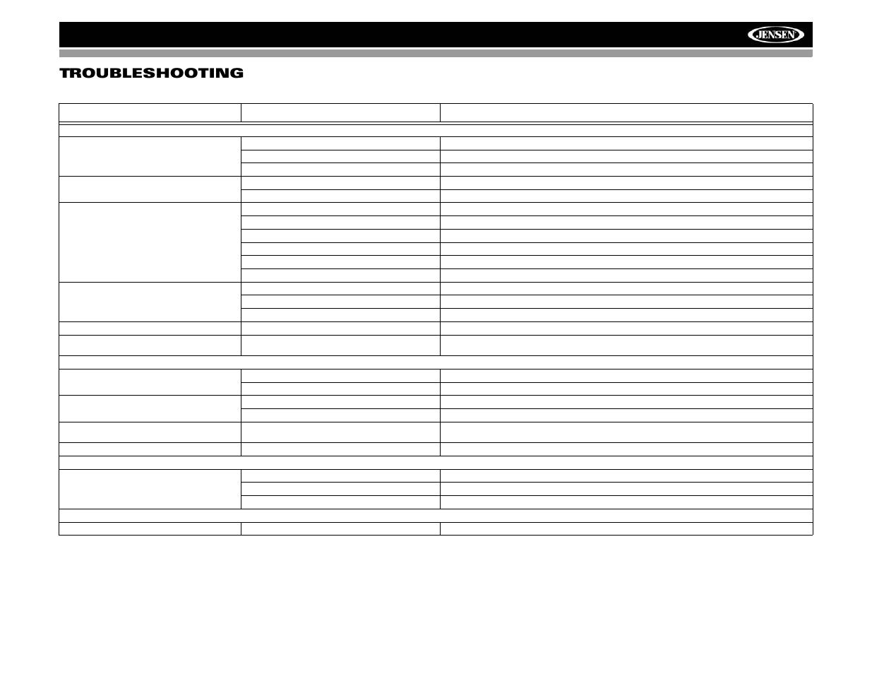Vm9022 troubleshooting | Jensen VM9022 User Manual | Page 39 ... on jensen car audio, jvc car audio wiring diagram, jensen marine stereo wiring diagram, jensen car speakers, jensen car stereo remote control, jensen car stereo manuals,