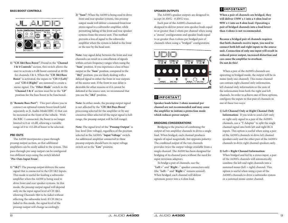 jl audio a4300 user manual page 5 11 original mode rh manualsdir com