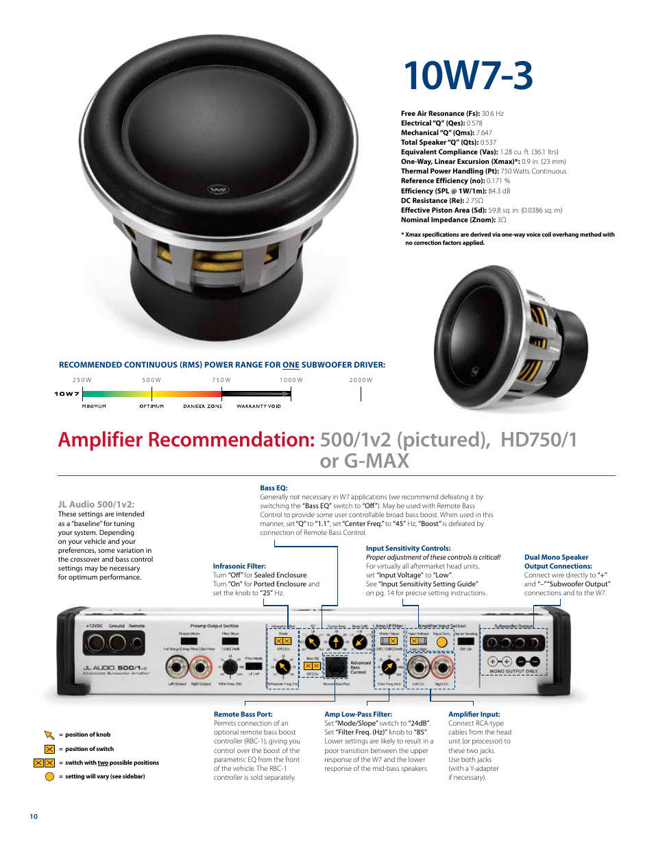 10w7-3 | JL Audio W7 User Manual | Page 10 / 16