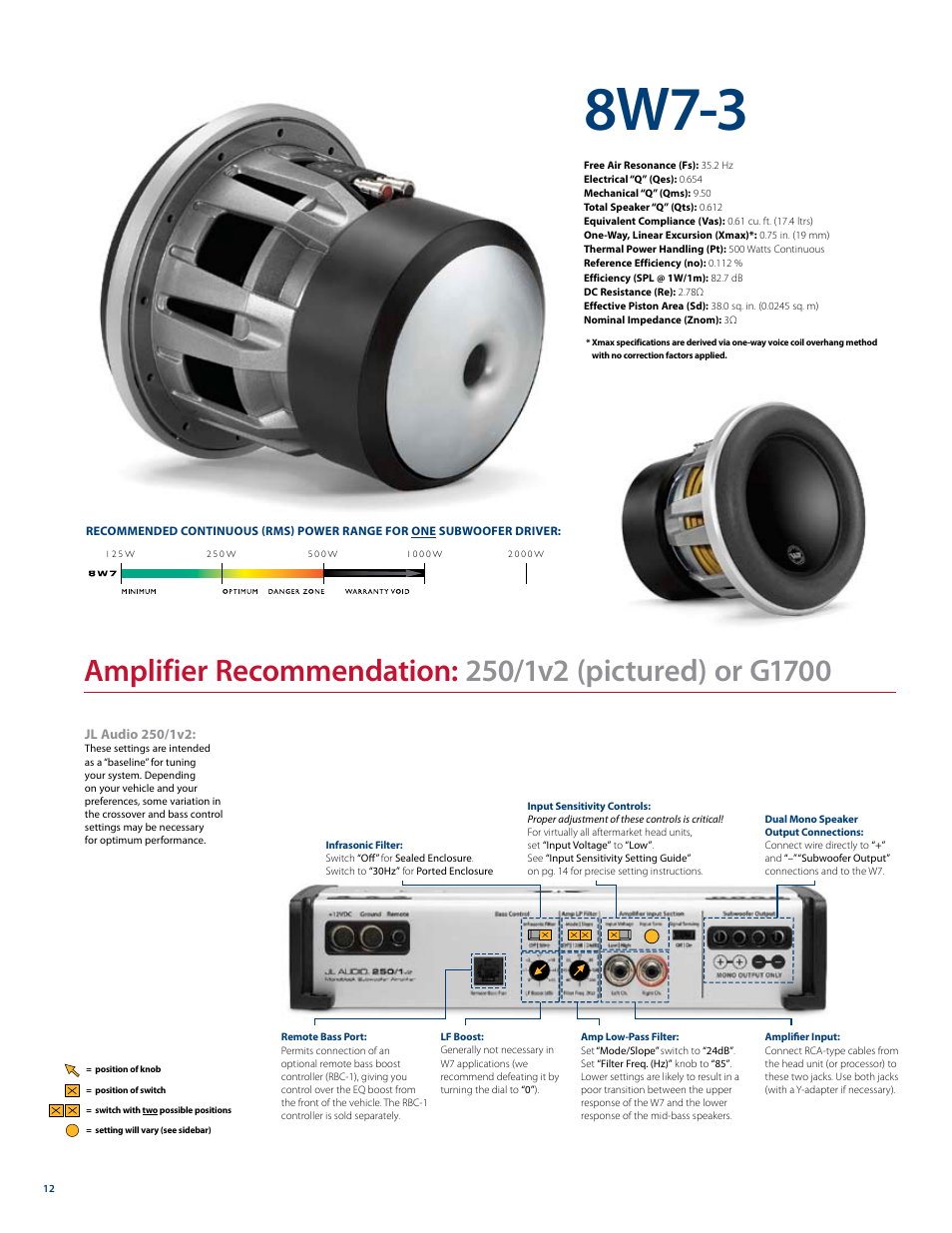8w7-3 | JL Audio W7 User Manual | Page 12 / 16