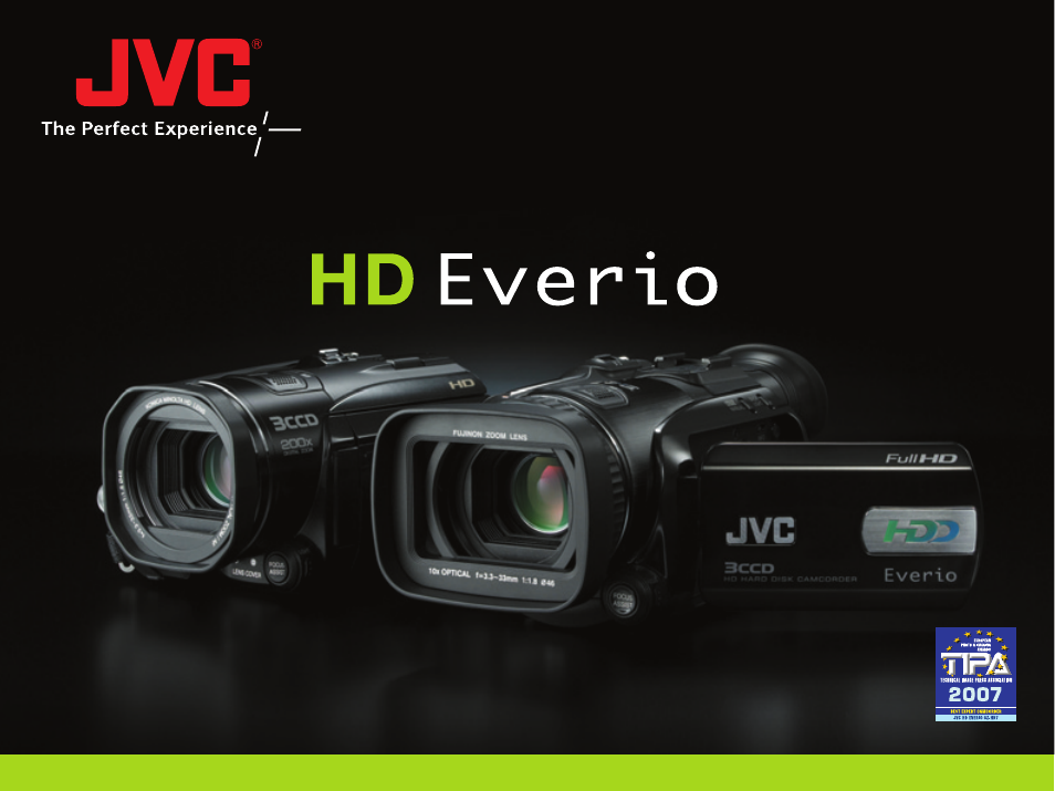 JVC Everio GZ-HD3 Owner's manual