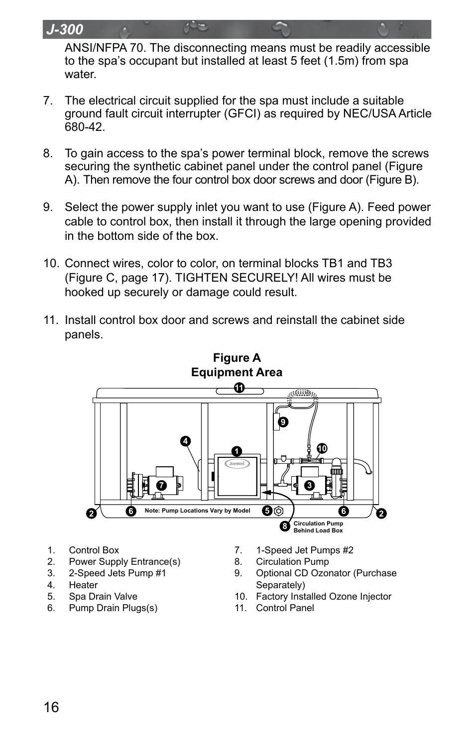 Jacuzzi J 315 User Manual Page 20 64 Also For 325 Spa Circulation Pump Wiring Diagram 335 345 355 365 375